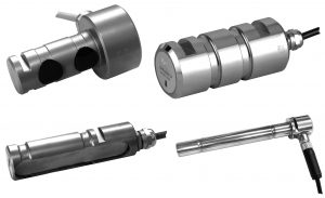 A variety of customised load pins by Flintec.